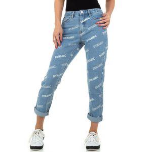 Ital-Design Damen Jeans Boyfriend Jeans Blau Gr.36