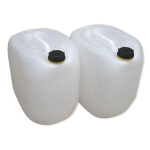 2 x 30 Liter Kanister Wasserkanister Campingkanister Farbe natur (2x30 knn)