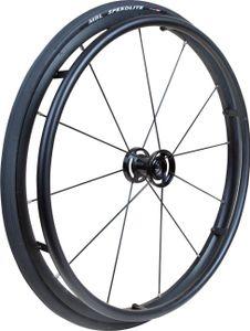 Rollstuhlrad FabaCare Storm, Antriebsrad für Rollstuhl, Ersatzrad für Gelände, bis 75 kg, Kugellager 12,7 mm (?'')
