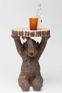 Kare Beistelltisch Elefant Ø35cm ; Maße (HxBxT): 53,5 cm x 36 cm x 35 cm, 78893
