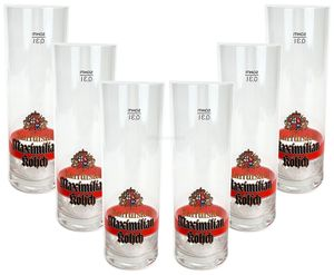 Maximilian Kölsch Bierglas - Glas / Gläser Set - 6x Biergläser mit 0,3L Eichung / Eichstrich