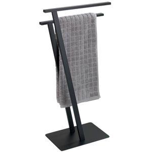 Handtuchständer Handtuchhalter Freistehend Bad Lirio Schwarz matt