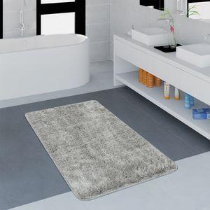 Moderner Badezimmer Teppich Einfarbig Microfaser Kuschelig Gemütlich In Grau, Grösse:80x150 cm