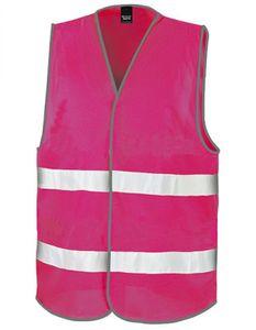 Motorist Safety Vest / ISOEN20471:2013, Klasse 2 - Farbe: Raspberry - Größe: L/XL