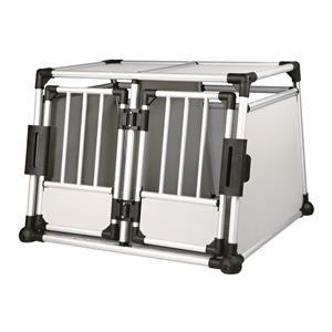 Trixie Transportbox, doppelt, Aluminium, 93 × 64 × 88 cm