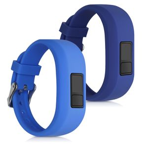 kwmobile Armband S kompatibel mit Garmin Vivofit jr. / jr. 2 - 2x Silikon Fitnesstracker Sportarmband