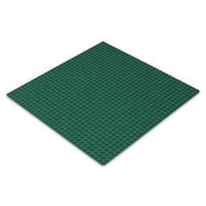 Platte 25,5cm x 25,5cm / 32x32 Pins, Große Grund- Bauplatte für Lego, Q-Bricks, MY, Sluban kompatibel, Grund-Platte, Dunkel-Grün für Wiese, Gras