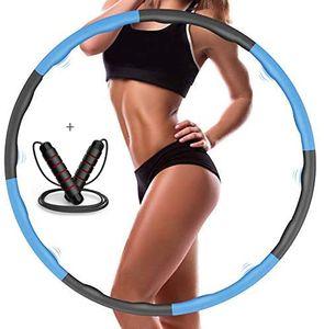 Hula Hoop, Hula Hoop für Kinder und Erwachsene, zur  und Massage, 8 Segmente verstellbar, beweglich, kann für Fitness / Sport / Zuhause / Büro verwendet werden (blau Über 1 kg)