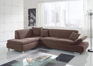 Max Winzer Terrence Ecksofa links mit Sofa 2,5-Sitzer rechts - Farbe: schoko - Maße: 270 cm x 190 cm x 76 cm; 2920-264-1643792-MET