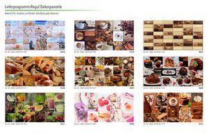 Dekor Paneele | Ziegel | Wand | Platte | PVC | stabil | 95x50cm | Regul, Nachbildungpaneel:Paneel 55994 - 951 x 495 mm