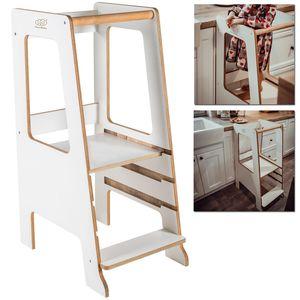 MeowBaby Lernturm / Küchenhelfer für Kinder - Scandi Weiß