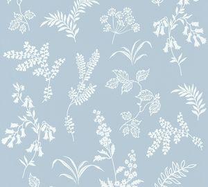 A.S. Création Blumentapete Flavour florale Tapete Papiertapete blau weiß 10,05 m x 0,53 m