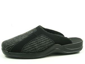 Rohde 2745-82 Vaasa-H Herren Schuhe Hausschuhe Pantoffeln, Größe:45 EU, Farbe:Grau