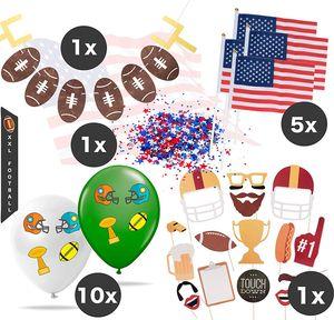 XXL Super Bowl American Football Dekoration Deko Set über 100 Teile