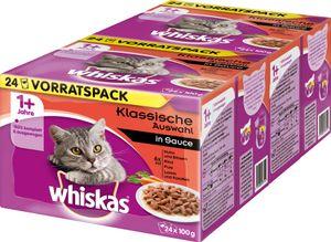Whiskas Fleischauswahl in Sauce - Katzen-Nassfutter; 48 x 100g