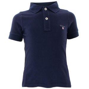 Gant Kinder Unisex Poloshirt Original Pique Baumwolle, Größe:98/104, Farbe:Blau(433)