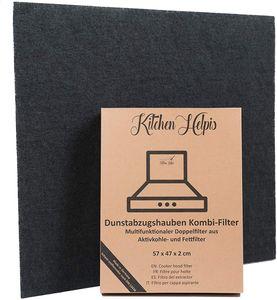 Kitchen Helpis ® Dunstabzugshauben Kombifilter – Aktivkohle- und Fettfilter 57x47 cm Abzugshauben-Filter Doppelfilter Zuschneidbar Universal für alle gängigen Abzugshauben
