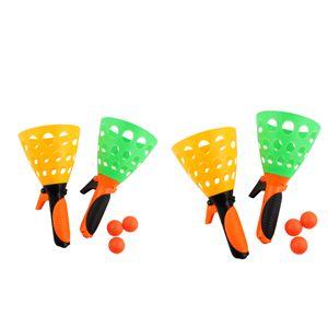 2 Set Click und Fang Spiel Outdoor Garten Fun Spielzeug Pop & Catch Ball