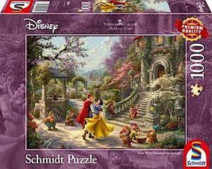 Schmidt Puzzle 1000 Teile Thomas Kinkade Disney Schneewittchen tanzen im Sonnenlicht