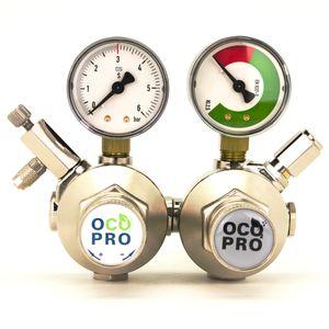 OCOPRO Doppelkammer CO2 Druckminderer für Aquarien mit integriertem Rückschlagventil