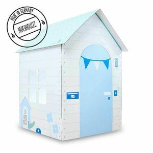 Stabiles Papphaus Papphaus für Kinder Papphäuser Kinderspielzeug Blau - Geschenk