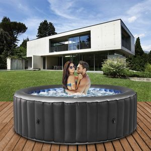 Miweba MSpa Whirlpool 2021 Comfort Bergen C-BE041, Garten & Outdoor-Whirlpool aufblasbar, 4 Personen (Anthrazit )