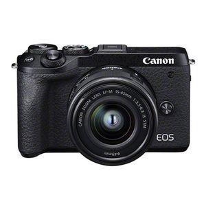 Canon EOS M6 Mark II Gehäuse + EF-M 15-45mm f/3.5-6.3 IS STM Kit, Farbe:Schwarz