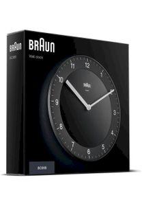 Braun BC 06 B Quarzwanduhr analog schwarz