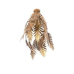 QAZQA - Retro Vintage Deckenleuchte | Deckenlampe | Lampe | Leuchte Gold | Messing - Botanica | Wohnzimmer | Schlafzimmer | Küche - Metall Andere - LED geeignet E27