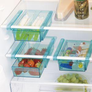 Schublade Klemm Kühlschrank GOURMETmaxx Zusatzfach Gemüsefach 3er-Set Ordnung