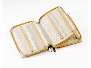 Homöopathische Taschenapotheke Klassik 136 Schlaufen Leder natur mit Klargläsern