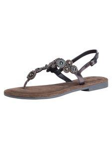 Tamaris Damen Sandale Silber 1-1-28183-26 weit Größe: 39 EU