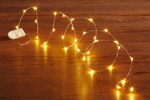 LED Lichterkette mit Batterie 20er, warmweiß Wasserlichterkette