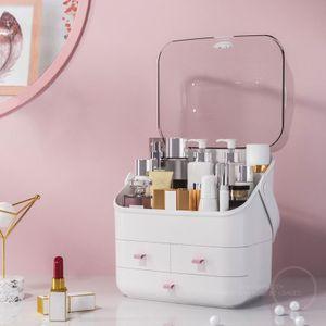 Meco Kosmetikbox Schminkaufbewahrung Regal Ständer Makeup Organizer Weiß 3 Schicht