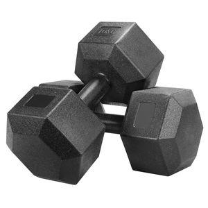 Yaheetech Kurzhanteln 2er Set Hexagon Hanteln gummiert 10 Kg Krafttraining Hanteltraining für Gymnastik und Fitness
