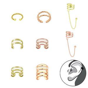 Ohrklemme Silber 925 gold: Ear Cuff Ohrring ohne Loch tragbar, Modell:Modell 3