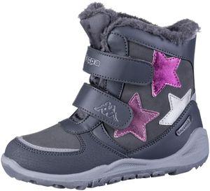 KAPPA Glitzy Tex Mädchen Winter Synthetik Boots grey, Warmfutter, wasserdicht, windabweisend