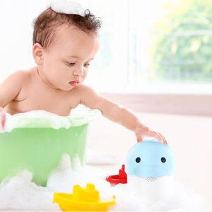 Navaris Baby Kinder Haarwaschbecher Badebecher - Becher Eimer zum Haare Waschen - für Haarwäsche von Kindern - Haarwaschhilfe für Babys - in Blau