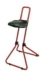Stehhilfe die Klappbare Lotz 3610 Gestell rot Sitz  Integralschaum schwarz zusammenklappbar belastbar bis 100 kg