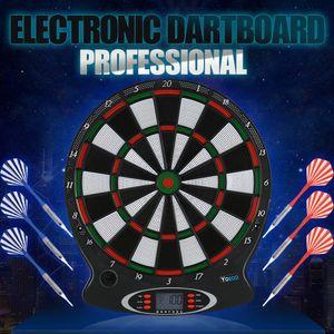Elektronisch Dartscheibe Dartautomat Dartboard Dart Dartspiel mit 6 Darts Geschenk Wurfspiel LCD Anzeigen