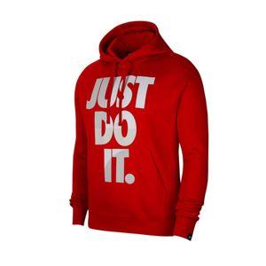Nike Kapuzenpullover Herren mit weich angerauter Innenseite, Größe:M, Farbe:Rot