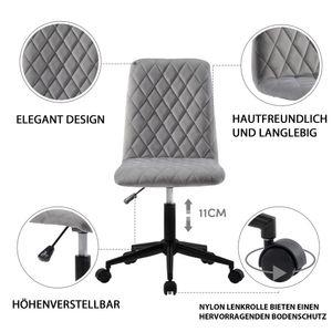 Samt Bürostuhl Schreibtischstuhl Computerstuhl Arbeitsstuhl Drehstuhl Verstellbare Höhe für Wohnung und Büro Grau,Ein vielseitigster Stuhl