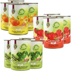 DOGREFORM Gemüse pur grün rot gelb jetzt je 12x 410g von jeder Sorte 36 Dosen