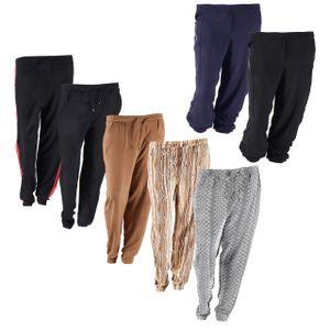 Damen Haremshose in vielen Designs , Damen Größe:44, Farbe:Schwarz Metall