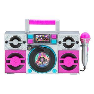 L.O.L. Surprise! Karaoke Boombox mit Mikrofon, Lichteffekten und Audio Eingang für Kinder ab 3 Jahren