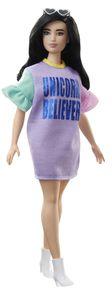 Barbie Fashionistas Puppe im pastellfarbenen Kleid