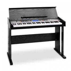 Schubert Carnegy-61 - Keyboard , E-Piano , 61 Tasten , 100 Rhythmen , 136 Instrumente , 8 Demosongs , Anschlagdynamik , Aufnahme-Funktion , schwarz