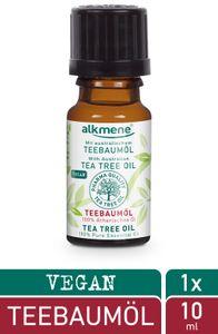alkmene 100% reines ätherisches Teebaumöl - veganes Teebaum Öl ideal für Haut & Haar - australisches Teebaumöl 1x 10 ml