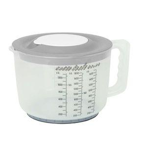 Messbecher Maßbecher Mixbecher Rührschüssel Backschüssel mit Spritzschutz Deckel, Farbe:Hell Grau