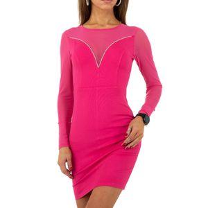 Ital-Design Damen Kleider Cocktail- & Partykleider Pink Gr.s